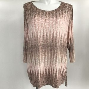 RUBY RD Woman Light Weight Long Sleeve Top Size 3X